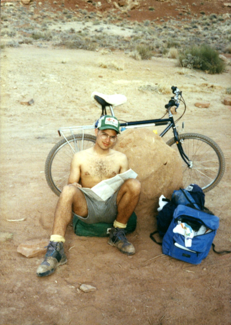 Oozing bikepacker style on the White Rim trail